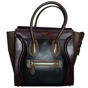 Luggage Micro Colorblock Leather Tote